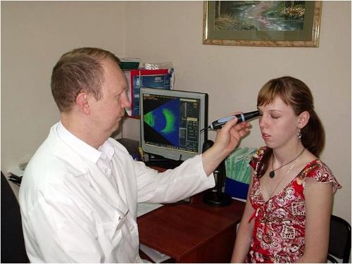 Как проводится эхобиометрия глаза